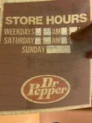 9 Vintage Dr Pepper Window Store Hours Advertising Signs 1970
