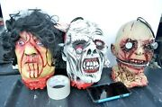 Halloween Zombie Props Severed Hanging Corpse Heads Life Size Foam Body Part