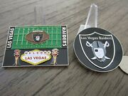 Lot Of 2 Welcome To Fabulous Las Vegas Raiders Raider Football Challenge Coin