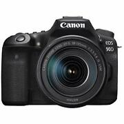 Canon Dslr Camera Eos 90dw 32.5mp Ef-s18-135 Is Usm Lens Kit W/ Tracking