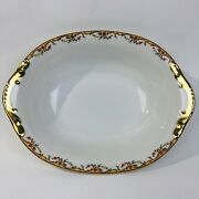 Limoges France Vignaud The Meuse Oval Vegetable Serving Bowl Rust/yellow1928