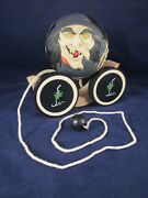 Briere Folk Art Pull Toy 1993 Witch Broom Bat Ball And 1986 Cart 1473 Excellent