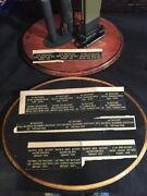 Engraved Nameplates For Helmet And Bayonet Stand- Wwi Wwii Helmets And Bayonets