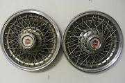 Oem Gm Set Of 2 15 Wire Type Hub Caps Wheel Covers 14008981 1977-79 Impalaw7