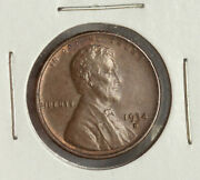 1934-d Lincoln Au Wheat Cent Penny Semi-key Date Coin 1934d