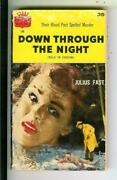 Down Through The Night By Julius Fast Signed, Crest 136 Crime Gga Vintage Pb