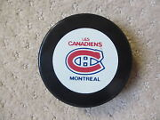 Montreal Canadiens 1987-91 Official Nhl Game Puck