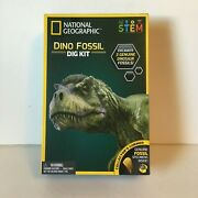 National Geographic Dino Fossil Dig Kit – Excavate 3 Real Fossils Including D...
