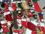 Large Lot Or Collection Of Christmas Stockings Felt Santa Disney Craft Project