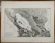 Vintage 1901 Nicaragua Canal Atlas Map 14x11 Old Antique Birds Eye View