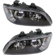 Headlight Set For 2008-2009 Pontiac G8 Left And Right With Bulb 2pc
