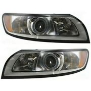 Headlight Set For 2008 2009 2010 2011 Volvo S40 Left And Right With Bulb 2pc