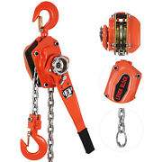 3ton 5ft Ratcheting Lever Block Chain Hoist Puller Pulley Heavy Duty Use 6600lbs