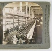 Stereoview Keystone View Co 22127 Doubling Frame Woolen Mill Lawrence Mass O