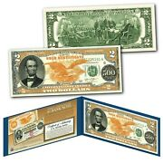 1882 Series Abraham Lincoln 500 Gold Certificate Designed On A Modern 2 Bill