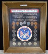 Silver Wartime Coinage Collection Framed 8 X 10 With Plexiglass 37