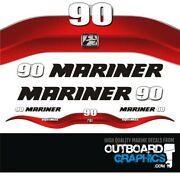 Mariner 90hp Optimax Outboard Decals/sticker Kit
