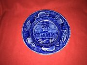 Lc3 Historical Staffordshire Blue Soup Plate Baltimore Ohio B And O Railroad 1825
