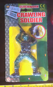 Crawling Soldier Wind Up Clockwork Classic Toy Funny Army