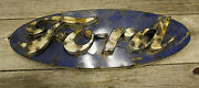 Recycled Tin Metal Oval Ford Sign Gas Oil Garage Man Cave Home Decor