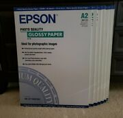 Lot Of 7 Epson Photo Quality Glossy Paper A2 16.5 X 23.4 20 Sheets S041123