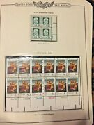 1973 Plate Blocks Of Stamps 23 Types 172 Stamps Matted On Collectors Sheet Pages