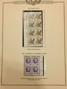 1974 Plate Blocks Of Stamps 19 Types 132 Stamps Matted On Collectors Sheet Pages