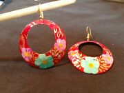 Earrings Painted Copper, Origin Mexico, Indigenous Artists