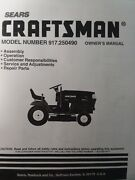 Sears Craftsman Hydr 18hp 44 Lawn Garden Tractor Owner And Parts Manual 917.250490
