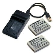 Charger + 2x Battery For Canon Powershot Sd700 Sd790 Sd800 Sd850 Is Digital Elph