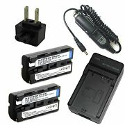 Charger + 2x 7.2v Battery For Sony Hdr-fx1 Hdr-fx7 Hdr-fx1000 Handycam Camcorder