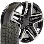 18x8.5 Fit Trail Boss Wheel Tire Chevy 18 Black Machined Face