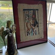 Ancient Egyptian Framed Papyrus Paper Art