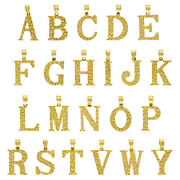 10k Yellow Gold Unisex Nugget Ore Initial Charms Small Letter Pendants | A To Y