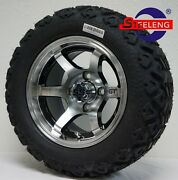 4golf Cart 12x7 Machined And039gtand039 Aluminum Wheels/rims And 20 All-terrain Tires