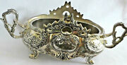 Vtg Godinger Silver Art Co.giftware Center Piece Bowl And Stand In Baroque Style