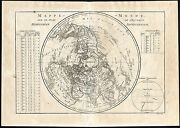 Antique Map-world-northern Hemisphere-climate-andre-1850