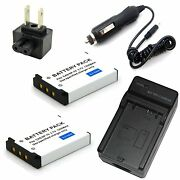 Charger + 2x Battery For Np-70 Bc-70l Casio Exilim Zoom Ex-z150 Ex-z155 Ex-z250