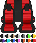 Designcovers Custom Fit 2010-2015 Chevy Camaro Front And Rear Car Seat Covers