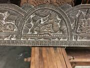 Wooden Carved Head Board Kamasutra Carvings
