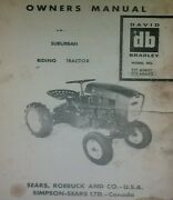 Sears Suburban David Bradley Riding Garden Tractor And Mower Owner Parts 2 Manual