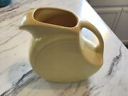 Retired Fiestaware Yellow Pitcher Never Used Mint