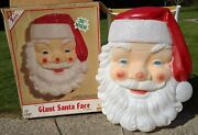 Empire Blow Mold Giant Santa Face Christmas Outdoor With Box 36 Vintage And Big
