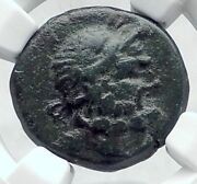 Amorion In Phrygia Rare Authentic Ancient 200bc Greek Coin Zeus Eagle Ngc I81148