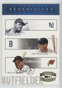2005 Donruss Throwback Threads Generations Babe Ruth Ted Williams Willie Mays
