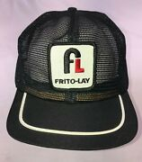 Vintage Frito Lay 70's 80's All Mesh Trucker Hat Cap Snapback Patch Blue