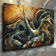 Mix Lang Fantasy Art Giclee Canvas Print The Guardian Sword And Sorcery Mtg