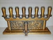 Very Rare Vintage Pal Bell Israel And039and039 Independenceand039and039 Menorah Brass Judaica 48and039s