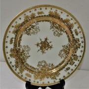 Ant C1906 Rc Noritake Nippon Hand Painted Gold Moriage 7 1/2d Plate Collectors