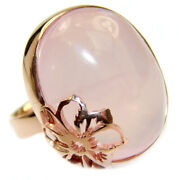 Rose Quartz Ring Size 7 - Adjustable 925 Sterling Silver + Free Shipping By Si